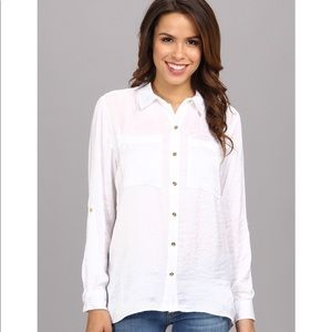 Michael Kors Loose fit White Satin Button Up